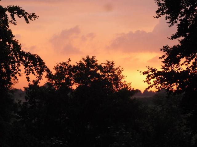Abends, halb zehn, von des Herrn Zimmer aus fotografiert